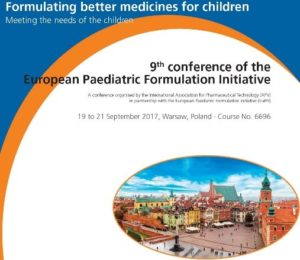 The 10th Conference of the European Paediatric Formulation