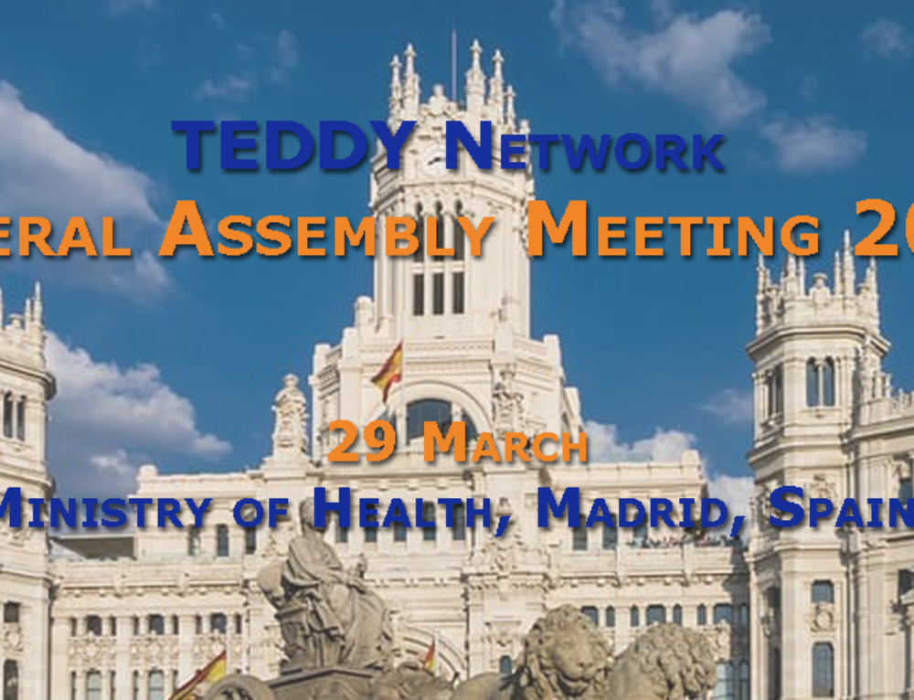 Next GA TEDDY in Madrid on March 29, 2019. Save the date!