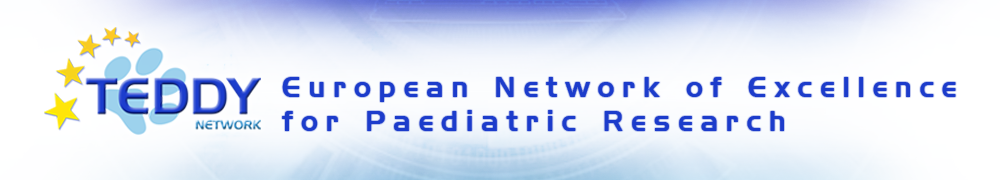 TEDDY – European Network of Excellence for Paediatric Clinical Research Logo